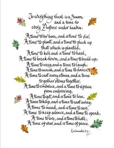 Hand Scribed Calligraphy Ecclesiastes 318 by CalligraphicArtisan, $22.00