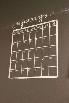 Chalkboard Wall Calendar How-To