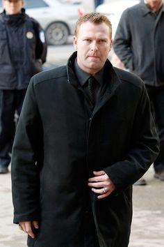 Martin Brodeur arrives to Pat Burns memorial service.