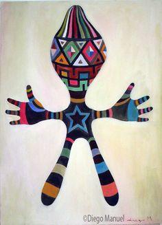 Cuadro de una imagen de un amuleto, de Diego Manuel