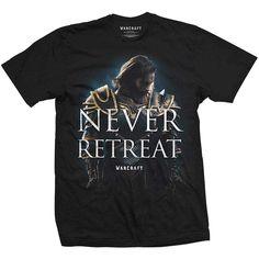 World of Warcraft Men's Tee: Never Retreat Wholesale Ref:WOWTS03MB
