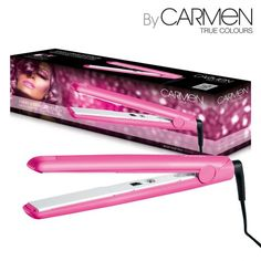 Carmen Pink Hair Straighteners are the perfect way to achieve sleek and smooth styles. With salon quality temperature of up to 210 degrees and ceramic plates, you can create a sleek finish in minutes while the slim line design of the straighteners also mean that you can achieve voluminous curled styles. Heating up in just 30 seconds, the Carmen Hair Straighteners are the perfect solution for busy lifestyles, saving you precious time while creating long lasting hair styles.