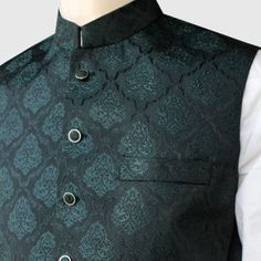 Graceful Jamawar Waist Coat For Men