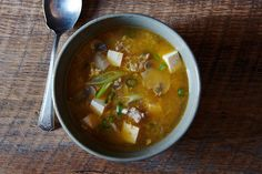 Joanne Chang's Hot and Sour Soup recipe: Thickened with egg.  #food52