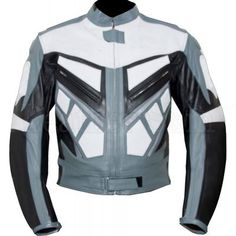 Shop our Men's biker leather jacket collection at Leather skin shop for the Latest style and for quality leather, Shop Your favorite leather jackets and save big Page Grey Leather Jacket, Biker Leather, Leather Jackets, Motorcycle Leather, Real Leather, Leather Coats, Biker Jackets, Gray Jacket, White Leather