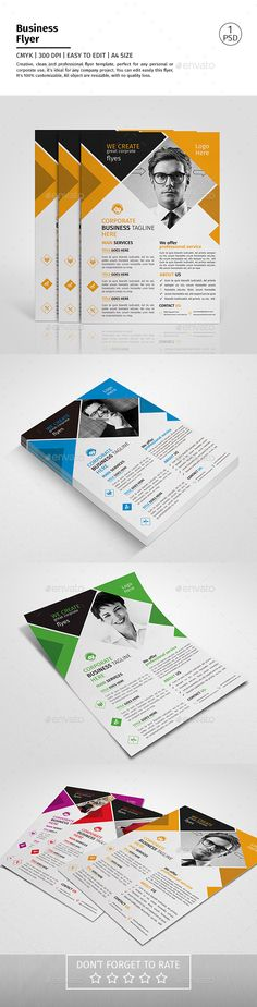 A4 Corporate Business Flyer Template PSD #design Download: http://graphicriver.net/item/a4-corporate-business-flyer-template-vol-07/14169028?ref=ksioks