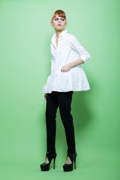 avie online store 1151-030701 高密度ダンプ トラペーズラインシャツ