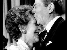 Ronald & Nancy Reagan...this is so sweet it brings tears to my eyes...what a love! I still remember his funeral and how she layed her head on his coffin when saying goodbye...she had such elegant grace and loved him dearly ♥