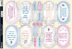 Kanban Cute as a Kitten foiled & die cut decoupage toppers - Verses, Sentiments