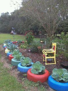30 Impressive DIY Tire Planters Ideas for Your Garden To Amaze Everyone Patio Garden, Plants, Tire Garden, Garden Projects, Tire Planters, Garden Planters, Garden Design, Garden Edging, Backyard Landscaping
