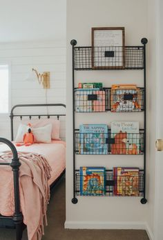Kid's bedroom ideas with shiplap wal… Cottage Style Kids' Bedroom Reveal! Kid's bedroom ideas with shiplap wall and farmhouse style decor.