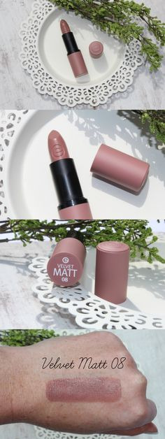 Essence Velvet Matt Lipstick Review & Photos - http://pinkparadisebeauty.blogspot.co.uk/2016/07/essence-velvet-matt-lipstick-review.html