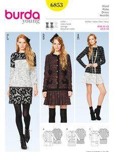 burda style: Schnitte Katalog - Röcke - Kleid – Materialmix
