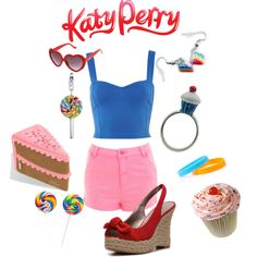 Katy Perry - Candyland, created by marybethschultz on Polyvore