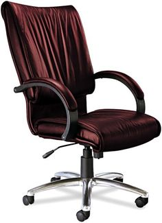 Swivel Office chair - Pin it :-) Follow us :-)) AzOfficechairs.com is your Office chair Gallery ;) CLICK IMAGE TWICE for Pricing and Info :) SEE A LARGER SELECTION of  swivel office chair at  http://azofficechairs.com/?s=swivel+office+chair -  office, office chair, home office chair -  Tiffany Industries PRBUR President Swivel/Tilt Desk Chair, Chrome Aluminum Base, Burgundy Leather « AZofficechairs.com