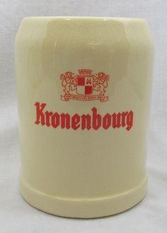 Beer Mug Belgium Kronenbourg Baudour Ceramic Stein Tankard Vintage 050 #KronenbourgBaudour #NationalBeerDay
