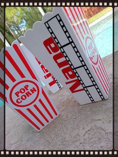 Custom personalized popcorn tubs / cups PERFECT for party favor $3.50 https://www.etsy.com/listing/162776520/custom-personalized-popcorn-tubs-cups?ref=shop_home_active