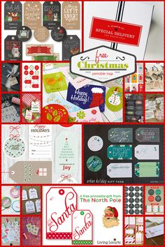 All of these free, printable Christmas gift tags can be printed right from your home computer, cut out, and then attached to your gifts.