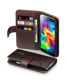 Leather Wallet Case for Samsung Galaxy S5