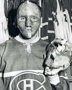 Jacques Plante - Montreal Canadiens-first player to wear a mask