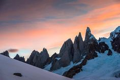 """""""Photo by @michaelclarkphoto // The west face of Cerro Torre as seen from the Patagonia Ice Cap in southern Argentina. For nearly 24 hours we had perfect…"""""""