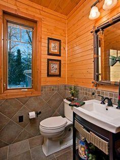 pine wall bathroom google search
