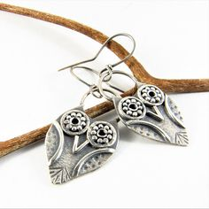 Argentium Owl Earrings, Sterling Silver Small Owl Earrings, Silversmith Jewelry, Owl Jewelry, Nature Jewelry, Metalsmith Earrings