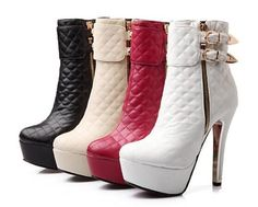 2014 Martin Boots Winter Boots Fine With Ultra High Heel Shoes Tie Belt Buckle Boots Naked White Shoes Waterproof Boots Item: Qd348 From Tyh1984, $42.94   Dhgate.Com