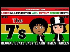 Laugh Along and Learn sing the seven times table song. Learning is easy with the catchy tunes from The Reggae Beatz Album. Learn the fun way and memorise you. Times Tables, Reggae, How To Memorize Things, Songs, Learning, Youtube, Fun, Videos, Multiplication Tables