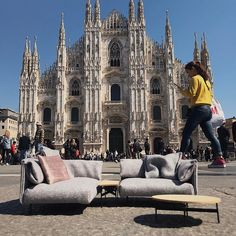 When sitting on our Rolf Benz ALMA sofa in miniature the cathedral in Milan looks even more impressive - and the people way too big.