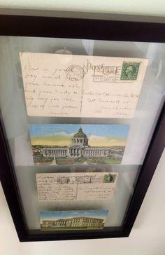 Vintage postcards as art