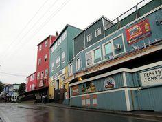 Colourful George Street, Downtown St. John's, Newfoundland, Canada.
