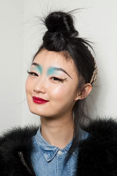 Front Brow/Blue Shadow, Long Lashes
