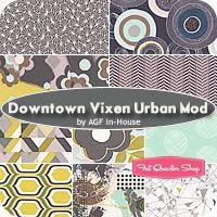 Downtown Vixen Urban Mod Fat Quarter Bundle AGF In-House for Art Gallery Fabrics