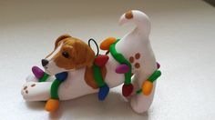 Polymer Clay Jack Russell Terrier Ornament by CelticForestClay @irisfields This looks pretty close to Morty! looks like you can send pictures to get it even closer.