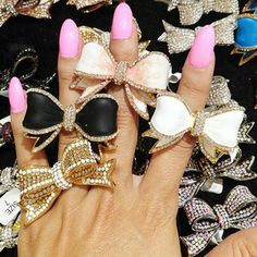 <3 Bow Rings