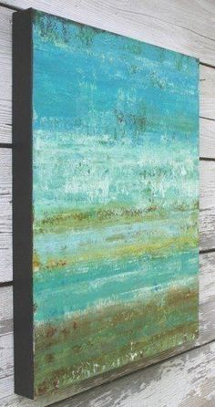 RESERVED FOR JESSICA - Abstract Beach Painting - From the Shore (16x20) Wall Decor