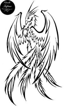Phoenix Tattoo idea. Absolutely love it                              …