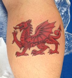 ... Welsh dragon tattoo on Pinterest   Welsh dragon Welsh and Dragon