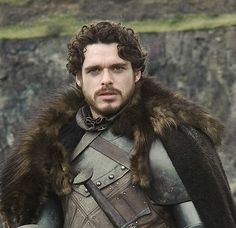 """Robb Stark (Richard Madden) """"ROBB IS A BEAUTIFUL WOLF KING AND I JUST WANT TO RUN MY HANDS THROUGH HIS BEAUTIFUL CURLY HAIR AND HIS SOFT WOLF PELTS AND TELL HIM EVERYTHING IS GONNA BE OK AND NOTHING BAD WILL HAPPEN AND HE WILL BE KING OF THE NORTH AND KING OF MY HEART."""" (And of my thighs...)"""