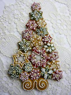 Mézeskalács - Christmas Gingerbread Star and Tree Cookies - Himes Mezes Kucko