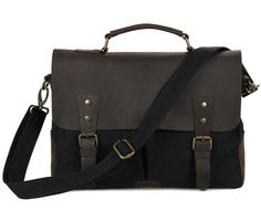 Canvas Messenger Bag – Twisted Leather Bags