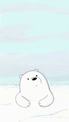 Homescreen/Lockscreen Wallpaper (Phone) | We Bare Bears Cartoon: Ice Bear/Cute Baby Ice Bear *made originally by myself* *feel free to use!* *credits is appreciated*