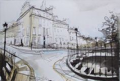 Nelson Street, New Town, Edinburgh Study by Lucy Jones, Edinburgh Artist www.lucyjonesart.com