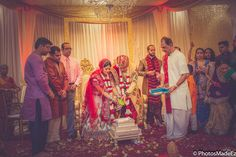 Indian Wedding Ceremony detail shots at Mahwah Sheraton - Hindu Wedding. Best Wedding Photographer PhotosMadeEz, Award winning photographer Mou Mukherjee. Gujarati Wedding Ceremony - Sindoor - Gujarati Bride and Gujarati Groom Featured in Maharani Weddings.