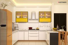 Below are the Kitchen Interior Design Ideas. This article about Kitchen Interior Design Ideas was posted under the Kitchen category. Modern Kitchen Apartment, Upper Kitchen Cabinets, Kitchen Decor, Elegant Kitchens, Home Kitchens, Modern Kitchen Design, Kitchen Sink Design, U Shaped Kitchen, Smart Kitchen