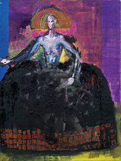 Rainer Fetting (German, b. 1949), Susanna als Infantin [Susanna as Infanta], 1997. Oil on canvas, 120 × 90 cm. Plus