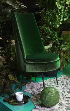 Dièz bij Thomassen Interieurs  - Green Velvet - Terciopelo Verde