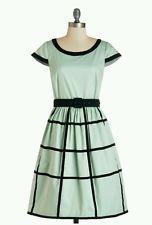 "ModCloth ""As Grid As It Gets"" Dress By Geod Sz L Missing Belt"