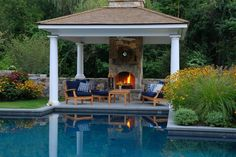 Find inspiration for your own poolside digs in these glamorous cabanas, pavilions and pool houses.